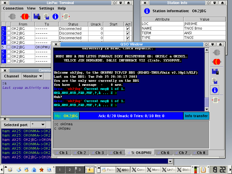 LinPac packet radio terminal Java Download